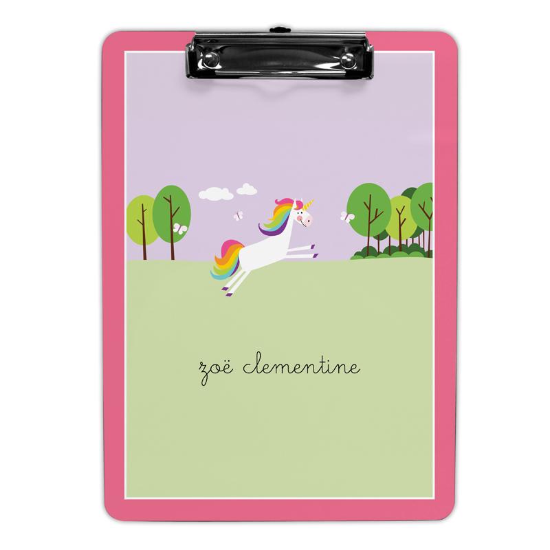 Unicorn Clipboard, Personalized