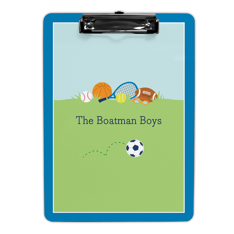 Sports Boy Clipboard, Personalized