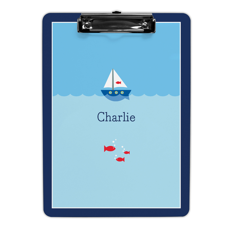 Sailboat Clipboard, Personalized