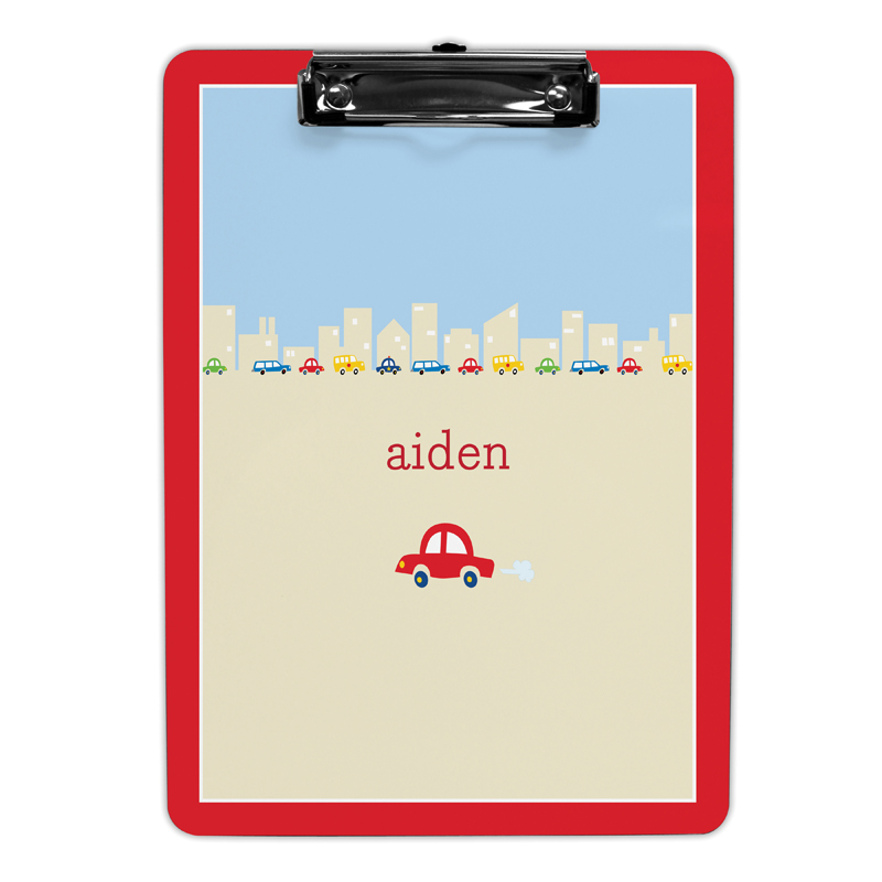 Cars Clipboard, Personalized