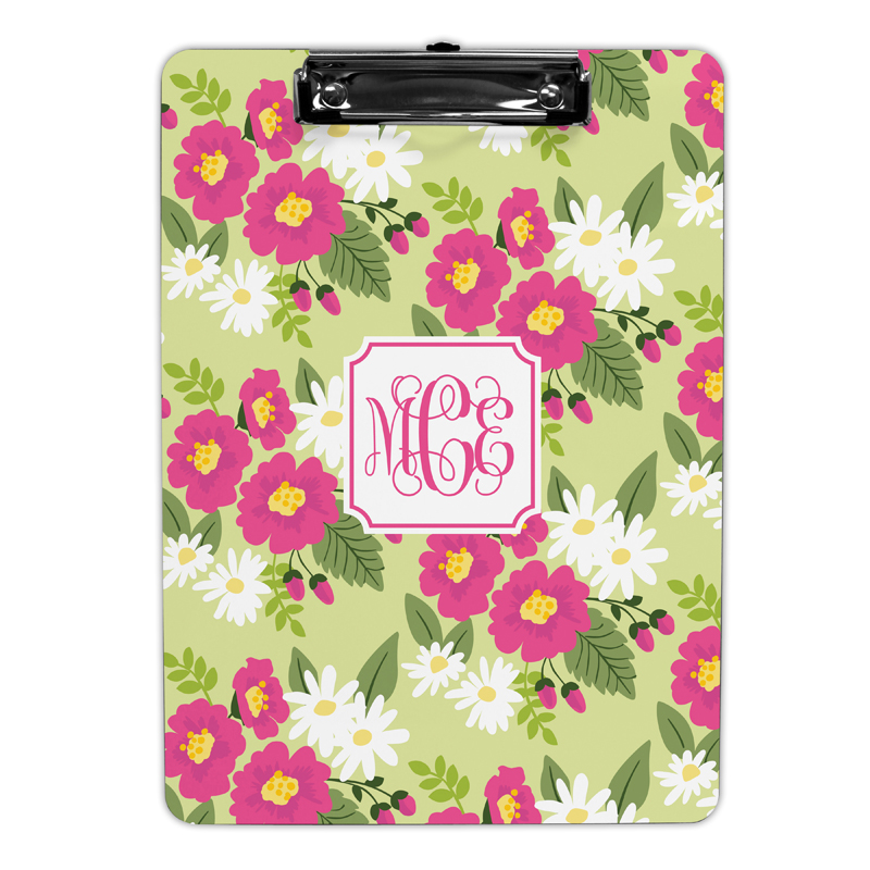 Lillian Floral Bright Clipboard, Personalized