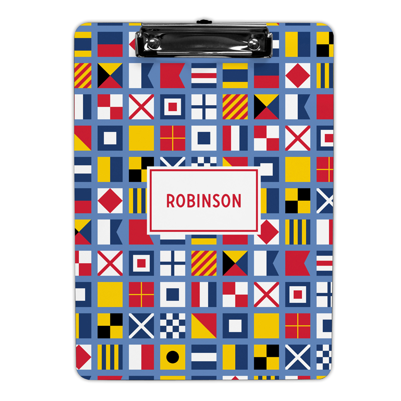 Nautical Flags Clipboard, Personalized