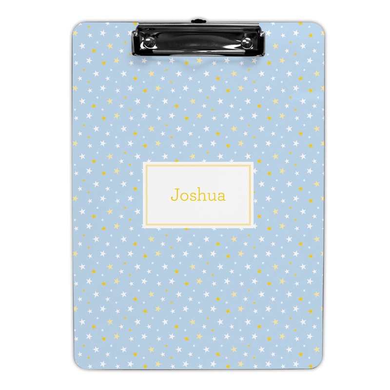 Twinkle Star Light Blue Clipboard, Personalized