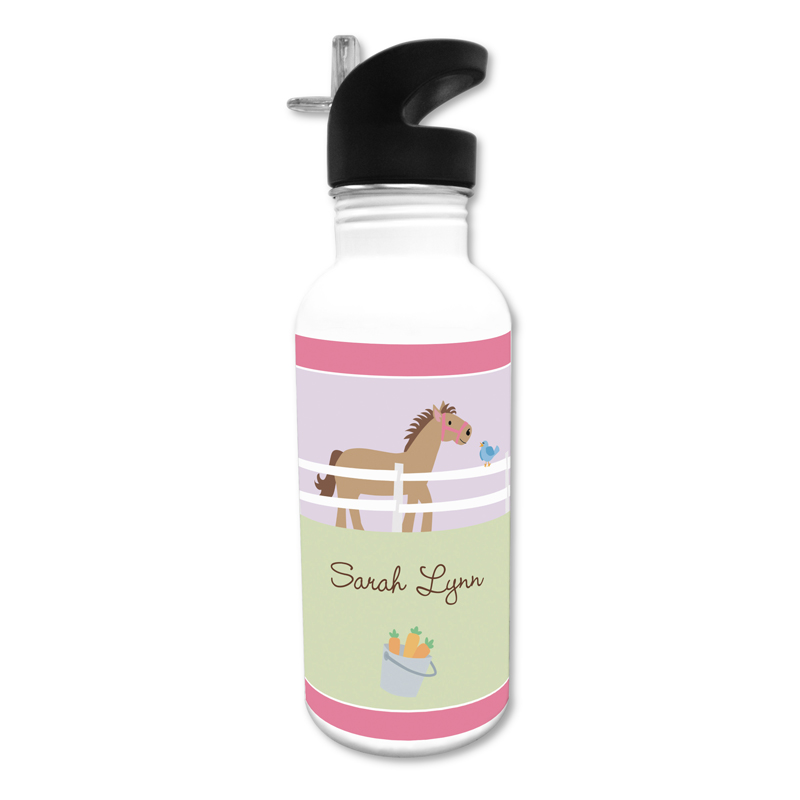 Horse 20 oz Water Bottle, Personalized