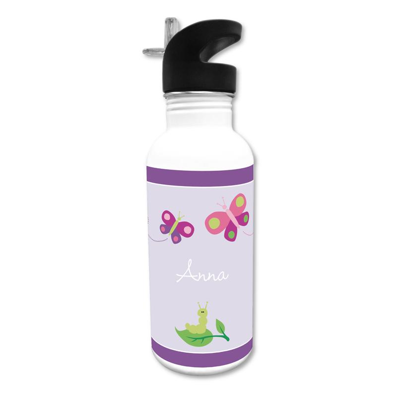 Butterfly 20 oz Water Bottle, Personalized