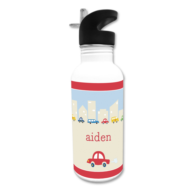 Cars 20 oz Water Bottle, Personalized