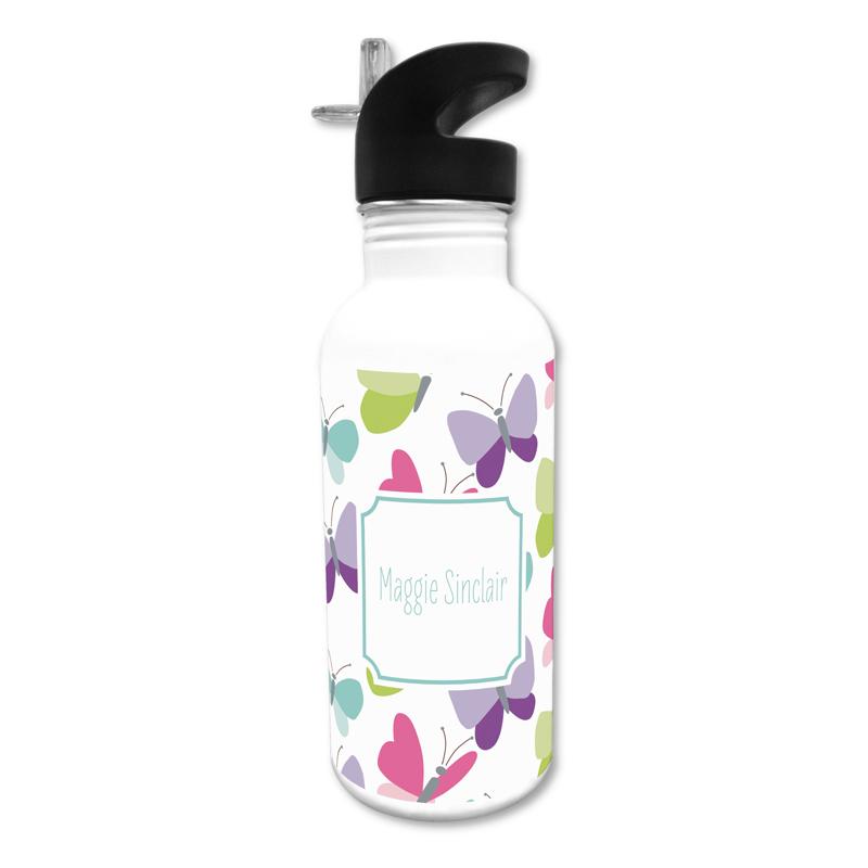Flutter 20 oz Water Bottle, Personalized