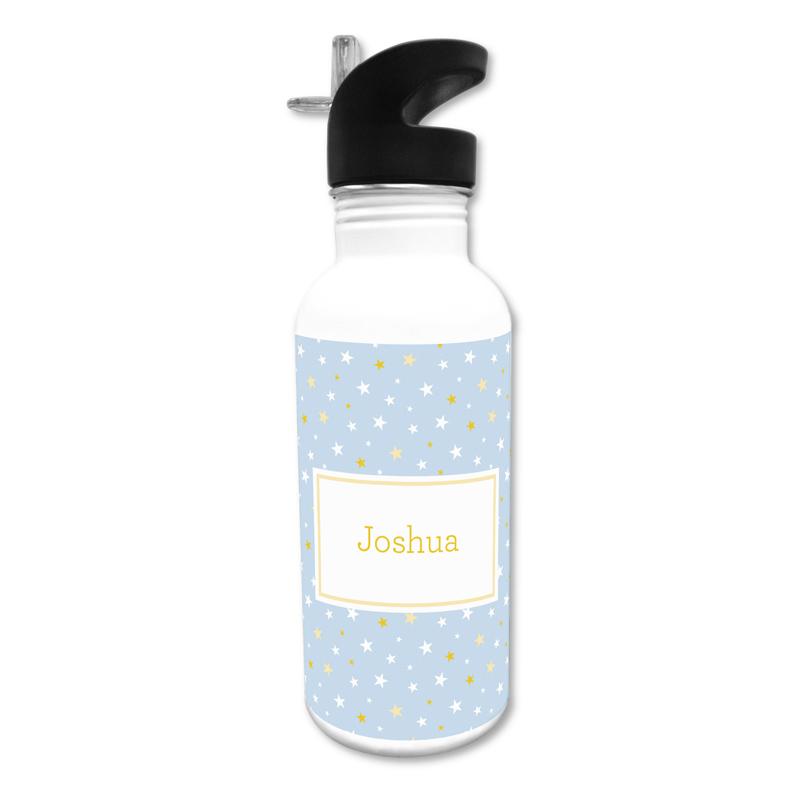 Twinkle Star Light Blue 20 oz Water Bottle, Personalized
