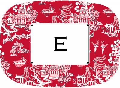 Chinoiserie Red Platter