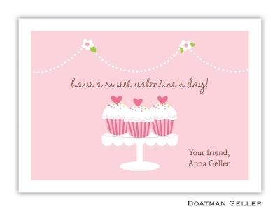 Heart Cupcake Valentine Card