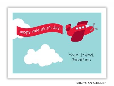 Airplane Red Valentine Card
