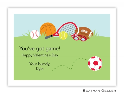 Sports Red Valentine Card