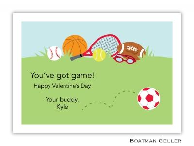 Sports Red Valentine Card