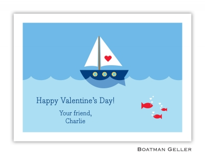 Heart Sailboat Valentine Card