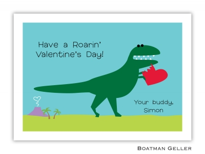 Heart Dino Valentine Card