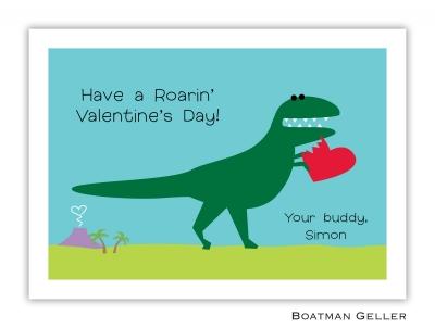 Heart Dino Valentine Card