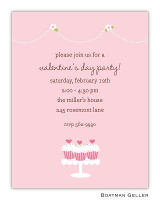 Heart Cupcakes Valentines Day Invitation