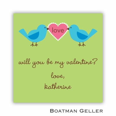 Love Birds Valentines Day Stickers