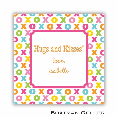 Hugs and Kisses Valentines Day Stickers