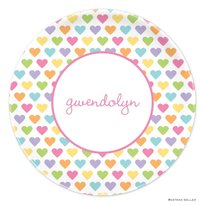 Candy Hearts Valentines Day Plate