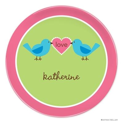 Love Birds Valentines Day Plate