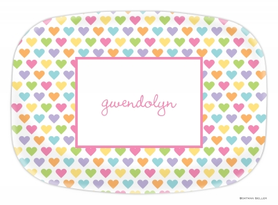 Candy Hearts Valentines Day Platter