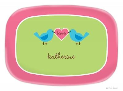 Love Birds Valentines Day Platter
