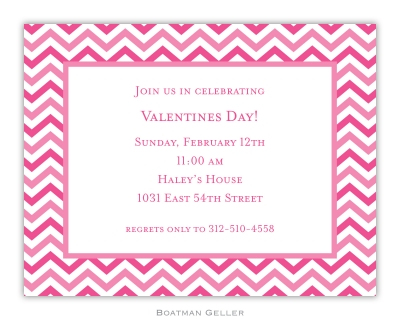 Valentine Chevron Valentines Day Invitation