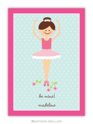 Ballerina Valentine Valentine Card