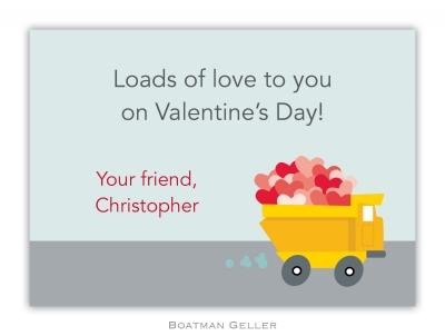 Dump Truck Valentine Valentine Card