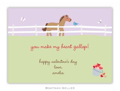 Horse Valentine Valentine Card