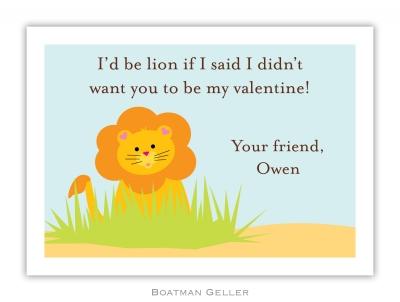 Lion Valentine Valentine Card