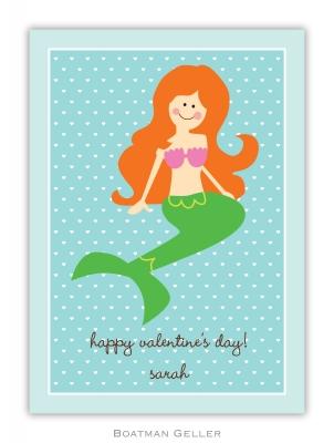 Mermaid Valentine Valentine Card