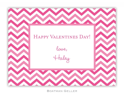 Valentine Chevron Exchange Valentine Card