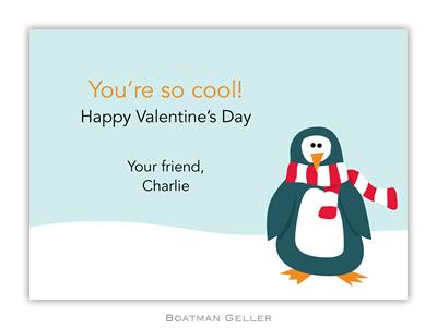 Penguin Valentine Boatman Geller Valentine Card