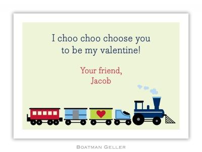 Train Valentine Valentine Card