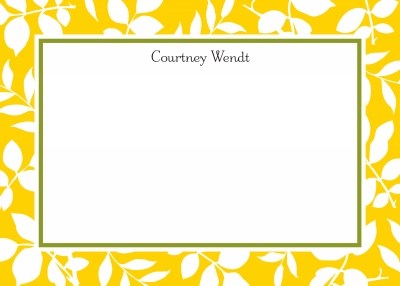 Silo Leaves Sunflower Stationery Personalized by Boatman Geller