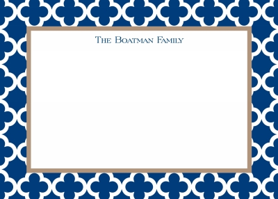 Bristol Tile Navy Stationery Personalized by Boatman Geller