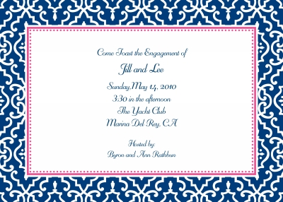 Wrought Iron Navy Invitation Personalized by Boatman Geller