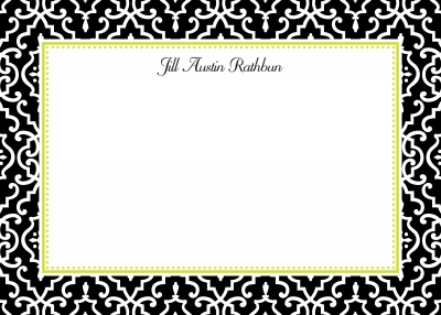 Wrought Iron Midnight Stationery Personalized by Boatman Geller