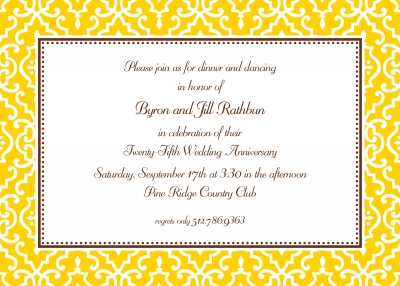 Wrought Iron Sunflower Invitation Personalized by Boatman Geller