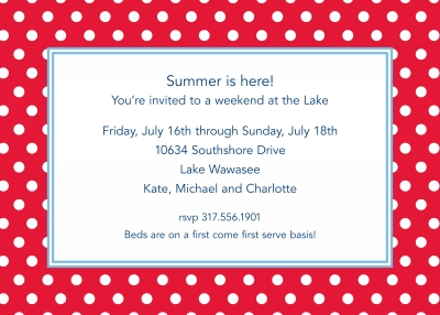 Polka Dot Cherry Invitation Personalized by Boatman Geller