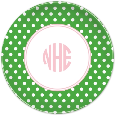 Polka Dot Personalized Plates Personalized by Boatman Geller