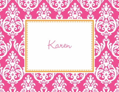 Madison Raspberry Stationery Personalized by Boatman Geller