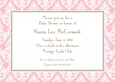 Madison Petal Invitation Personalized by Boatman Geller