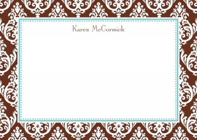 Madison Chocolate Stationery Personalized by Boatman Geller