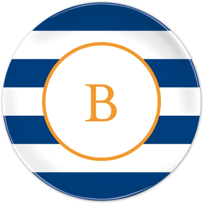 Awning Stripe Personalized Plates Personalized by Boatman Geller