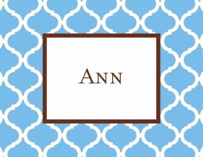 Ann Tile Cornflower Stationery Personalized by Boatman Geller