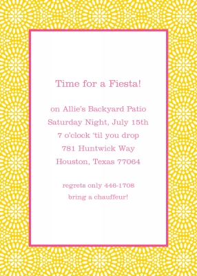 Bursts Sunflower Invitation Personalized by Boatman Geller