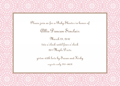 Bursts Petal Invitation Personalized by Boatman Geller